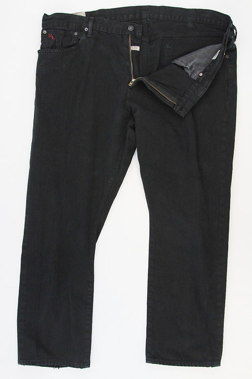 Ralph Lauren Black Denim Style Hampton Straight 42 x 30