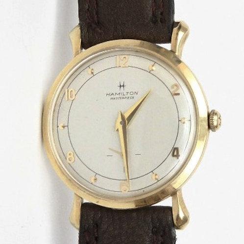 Hamilton 10K Gold w/Second Hand Wheel, 22 Jewels