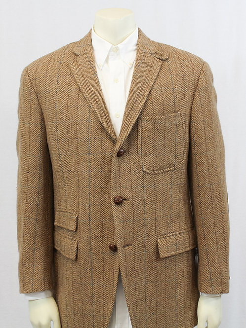Ralph Lauren Wool HarriTngbone 44 Long