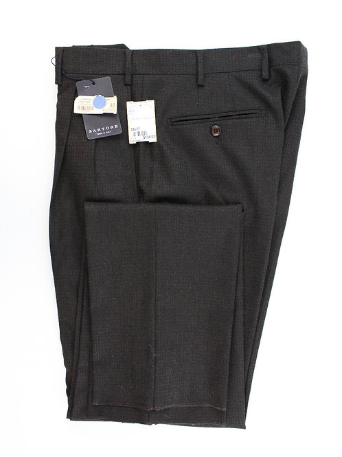 Sartore Wine 100% Wool Flat Front Trouser 32 x Unfinished **New w/Tags