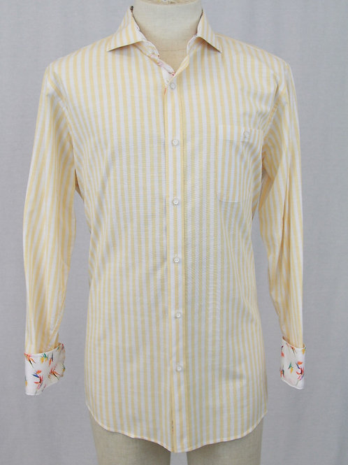 Cigar Couture Yellow w/White Stripes & Floral Trim XL