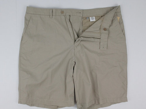 Ashworth Tan Shorts Plain Front Chino 40
