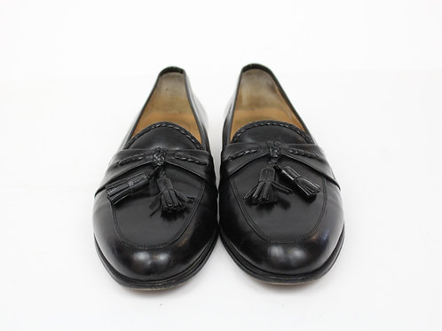 Johnston & Murphy Black Loafer w/Tassel 12