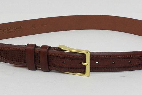 Allen Edmonds Brown Braided Belt w/Brass Buckle