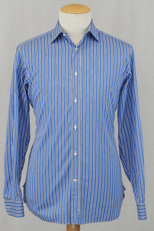 Ralph Lauren Purple Label, Navy/Blue & White Stripe, 16 x 34