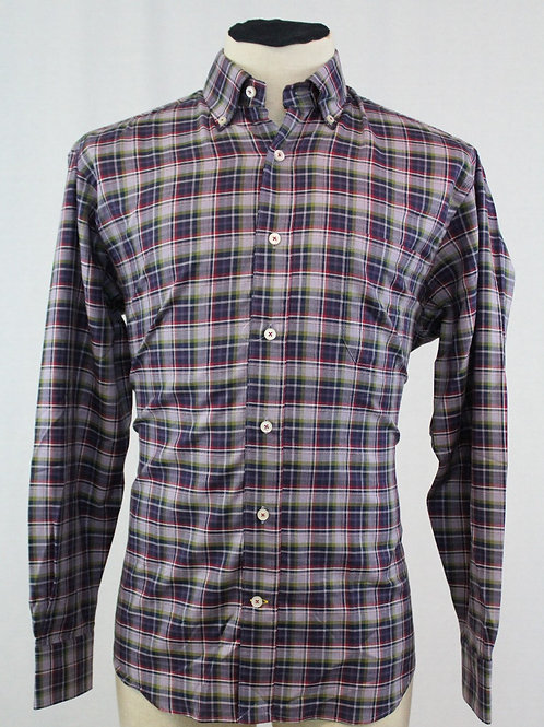 Robert Talbott Purple w/Green Check Medium