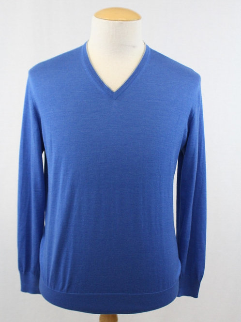 Ermenegildo Zegna Cashmere/Silk Blend Long Sleeve V-Neck XL