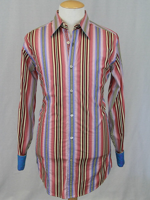 Robert Graham Blue Solid w/Checked Detail XXL