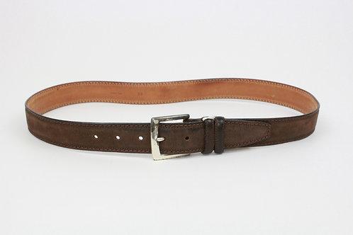 Ermenegildo Zegna Brown Camelskin Belt 38