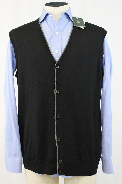 Robert Tabott Black Wool, 5 Button Vest