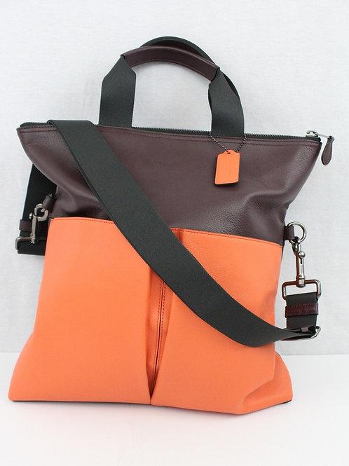 Coach Orange Leather Foldable Tote
