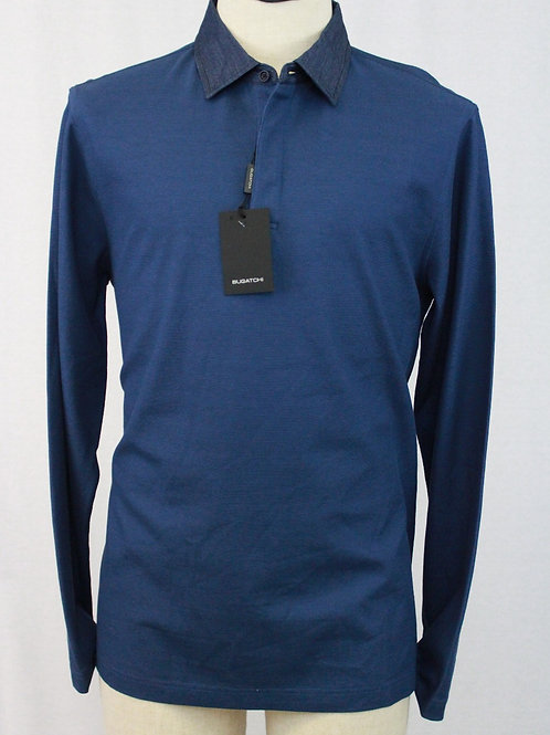 Bugatchi Blue 3 Button Pullover Large