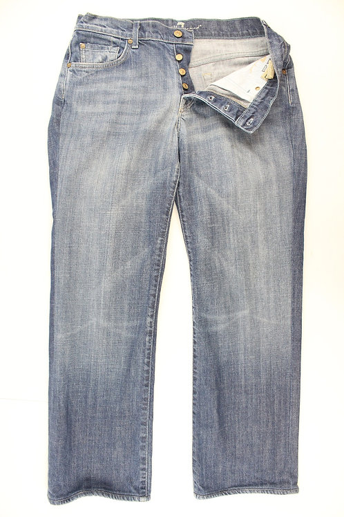 7 For All Mankind Denim Boot Cut Button Fly 32 x 30