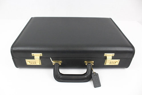 Brooks Brothers, Black, Hardsided Briefcase, Large