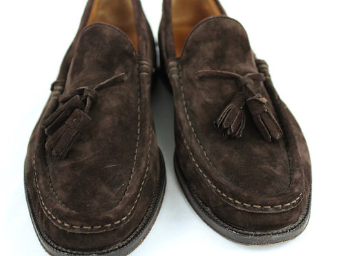 Ralph Lauren Brown Suede Tassel Loafer 8