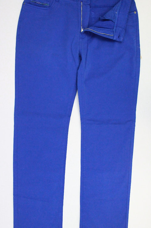 Robert Talbott Royal Blue Cotton Chino Flat Front 38 x 34