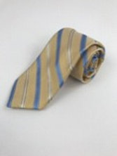 Hart Shaffner 100% Silk w/Blue & White Diagonal Rep