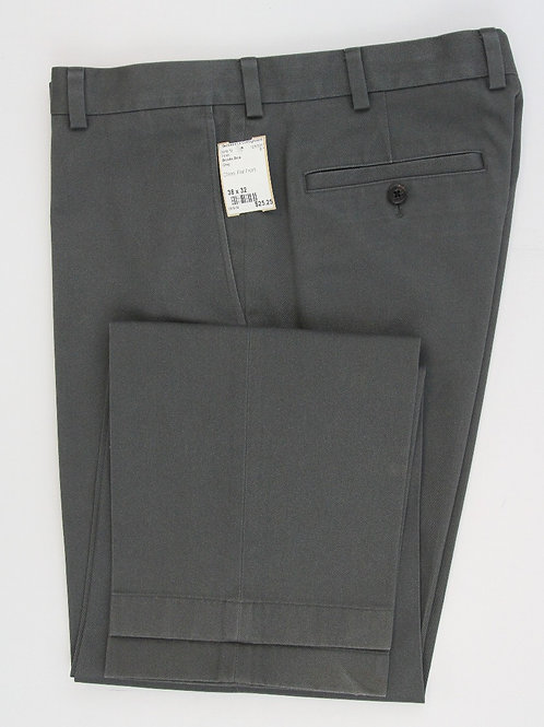 Brooks Brothers Grey Chino Flat Front 38 x 32