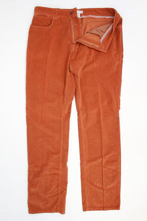 Peter Millar Orange Corduroy Flat Front 36 x 35