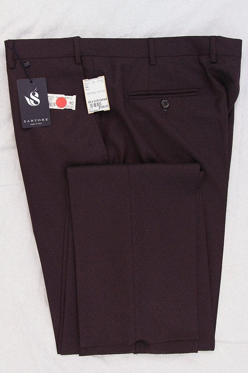 Reda Wine 100% Wool, Flat Front 40 X Unfin