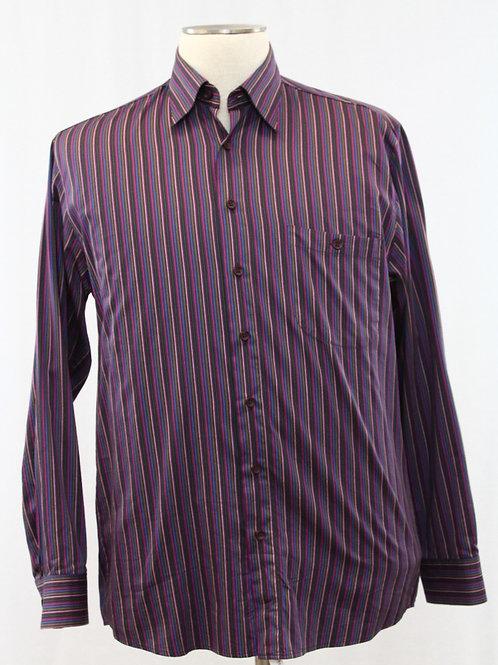 Haupt Purple Long Sleeve, Multi-Colored Stripe, Medium