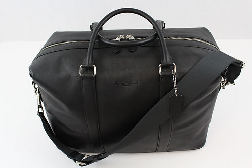 Coach Black Voyager Sport Pebbled Leather **Brand New**
