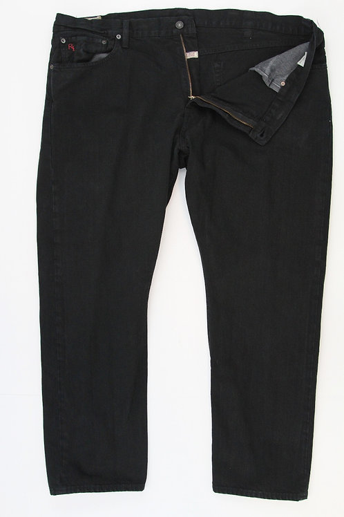 Ralph Lauren Black Denim Hampton Straight 42 x 30