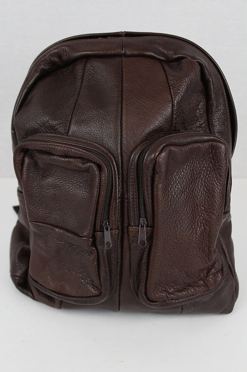 No Brand Brown Leather Backpack