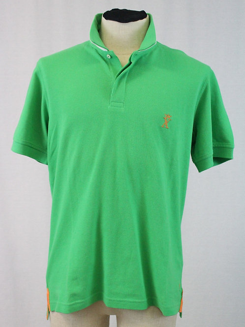 Vicomte A., Green, Short Sleeve, 2 Button Pullover, Large