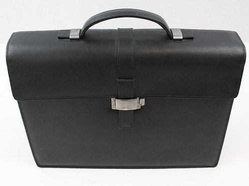 Mont Blanc Black 4810 Westside Briefcase Single Gusset