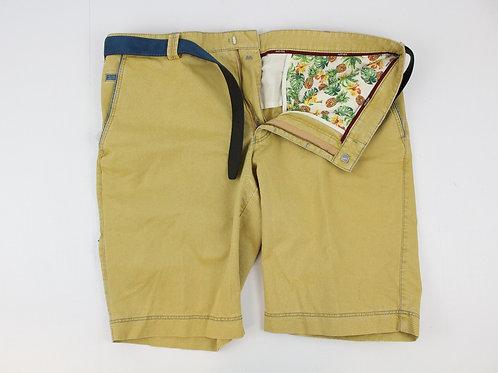 Meyer Mustard Shorts Flat Front w/Belt