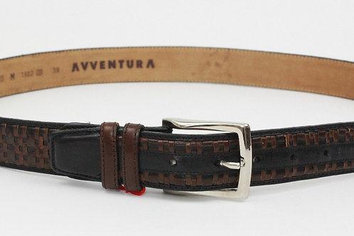 Avventura Brown Belt Braided Leather 38