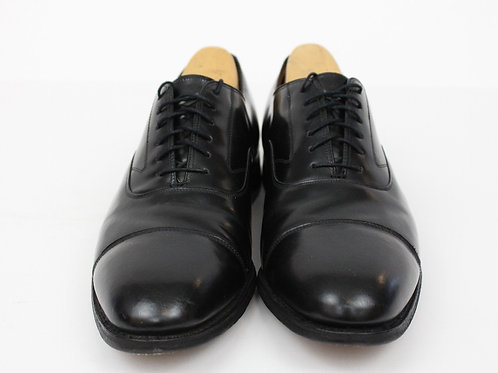Johnston & Murphy Black Oxford Cap Toe