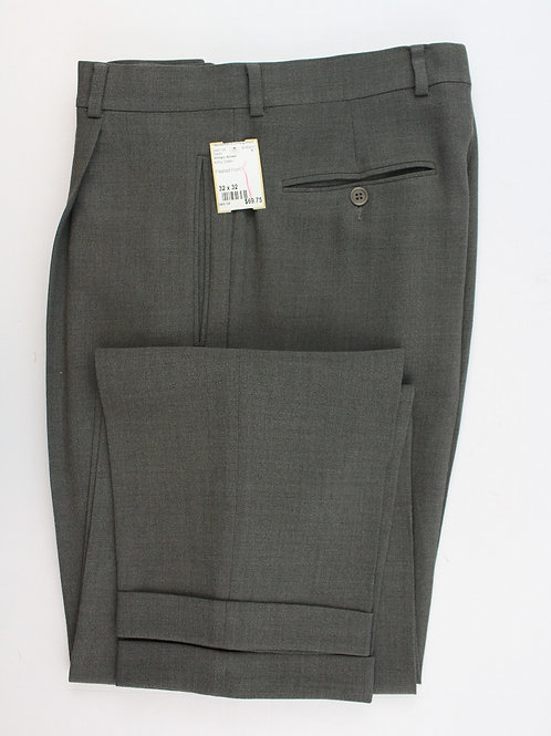 Giorgio Armani Army Green 100% Wool, Pleated Front 32 x 32