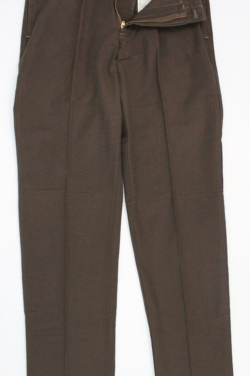 Bills Khakis Brown Chino Flat Front 34 x 34