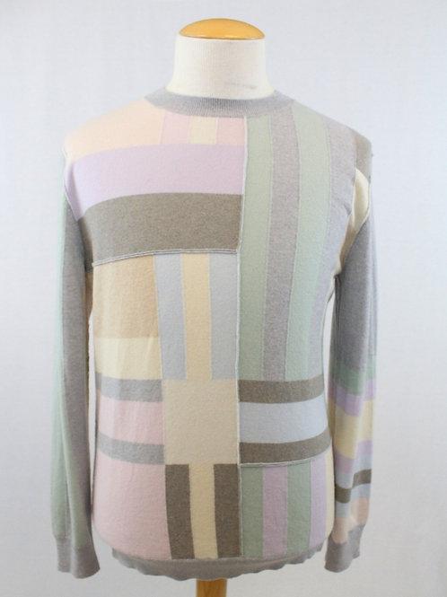 Ermenegildo Zegna Couture Long Sleeve Patchwork Sweater XL