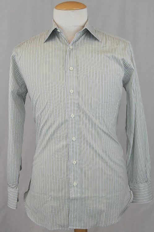Paul Stuart White w/Olive Stripes 15.5 x 33