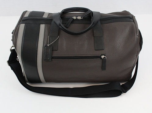 Coach Bark All Leather Duffle Like New Condition