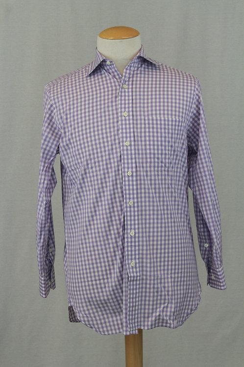 Paul Stuart, Lavender w/White Check, 15.5 x 35