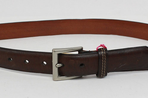 Coach Brown Leather Belt w/Brushed Buckle 36