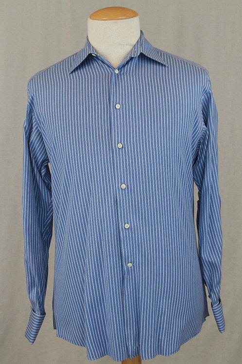 Ermenegildo Zegna Blue w/White Stripe 15.5 x 35