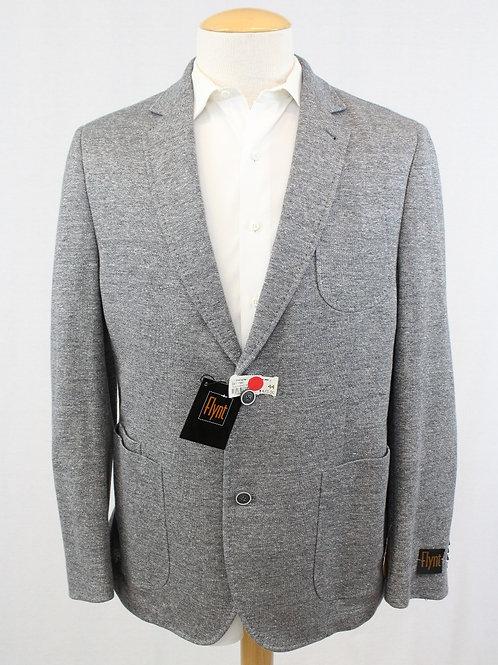 Flynt Grey Sport Coat Cotton/Linen Blend 44 Regular
