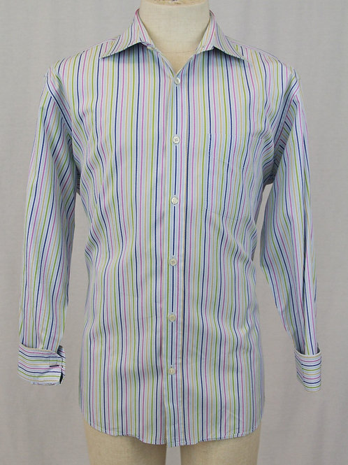 Paul Smith Lt. Blue w/Multi Colored Stripes XL
