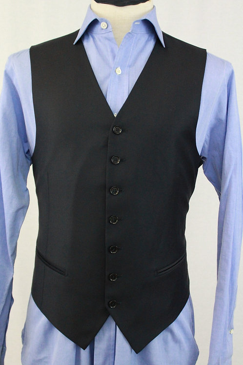 Pal Zileri Navy Wool Vest 40 Regular