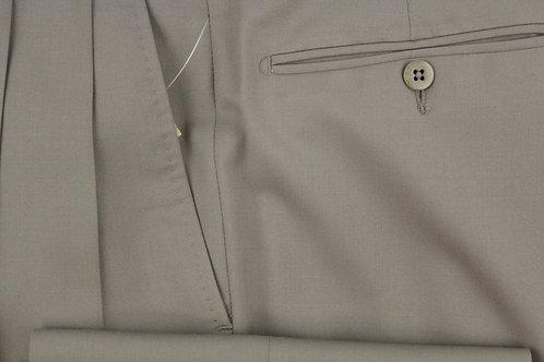 Ermenegildo Zegna Tan 100% Wool Pleated Front 31 x 32