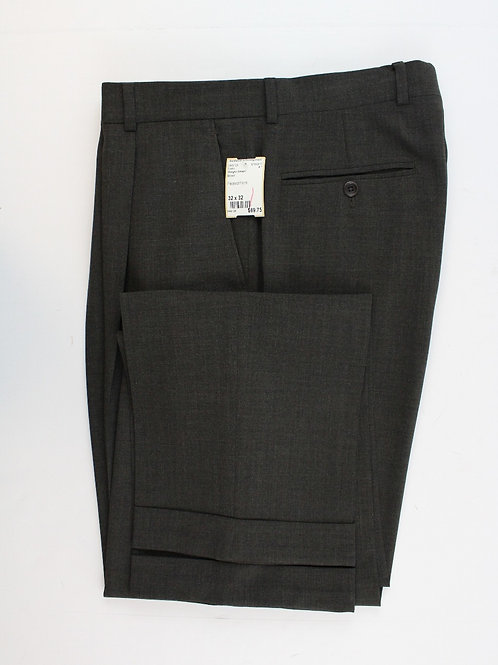 Giorgio Armani Moss Green 100% Wool Pleated Front