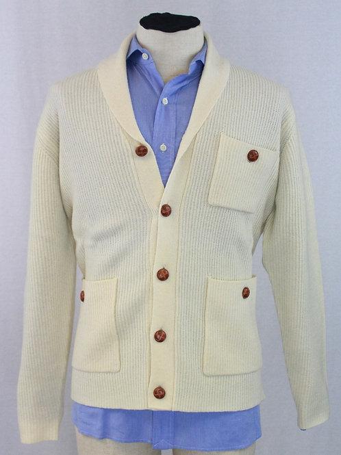 Mine Cream Sweater w/Shawl Collar Large