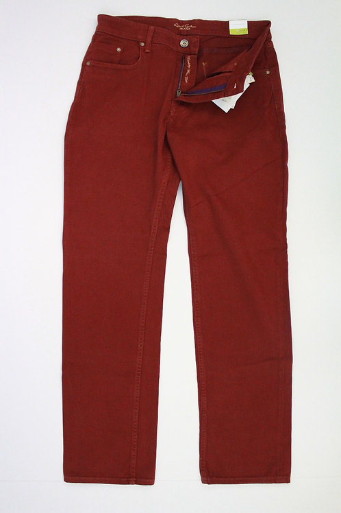 Robert Graham Red Jeans w/Yellow Stitching 33 x 34