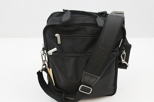 Brookstone Black Nylon Messenger Bag