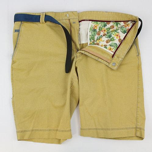 Meyer, Mustard, Flat Front Chino Shorts, 40